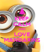 KEEP CALM AND LOVE MANDARINS - Personalised Poster A4 size