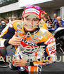 KEEP CALM AND LOVE MARC MARQUEZ - Personalised Poster A4 size