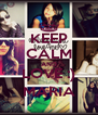 KEEP CALM AND LOVE :) MARIA - Personalised Poster A4 size
