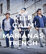 KEEP CALM AND LOVE MARIANAS TRENCH - Personalised Poster A4 size