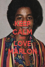 KEEP CALM AND LOVE MARLON - Personalised Poster A4 size
