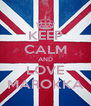 KEEP CALM AND LOVE MAROKKA - Personalised Poster A4 size