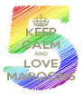 KEEP CALM AND LOVE MAROON5 - Personalised Poster A4 size