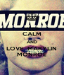 KEEP CALM AND LOVE  MARYLIN MONROE - Personalised Poster A4 size