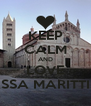 KEEP CALM AND LOVE MASSA MARITTIMA - Personalised Poster A4 size