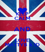 KEEP CALM AND LOVE MATTYB & 1D - Personalised Poster A4 size