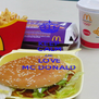 KEEP CALM AND LOVE MC DONALD - Personalised Poster A4 size
