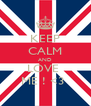 KEEP CALM AND LOVE  ME ! <3  - Personalised Poster A4 size