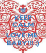 KEEP CALM AND LOVE ME  BABY!!! ;) - Personalised Poster A4 size