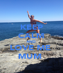 KEEP CALM AND LOVE ME  MUM  - Personalised Poster A4 size