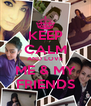 KEEP CALM AND LOVE ME & MY FRIENDS - Personalised Poster A4 size