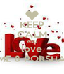 KEEP CALM AND love ME & PORSHA - Personalised Poster A4 size