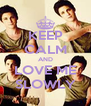 KEEP CALM AND LOVE ME SLOWLY - Personalised Poster A4 size