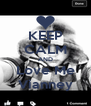KEEP CALM AND Love Me Vianney - Personalised Poster A4 size