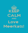KEEP CALM AND Love  Meerkats! - Personalised Poster A4 size