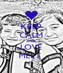 KEEP CALM AND LOVE MEET  - Personalised Poster A4 size
