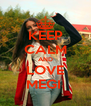 KEEP CALM AND LOVE MEGI  - Personalised Poster A4 size