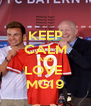 KEEP CALM AND LOVE  MG19 - Personalised Poster A4 size