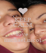 KEEP CALM AND love  michael,nicol - Personalised Poster A4 size