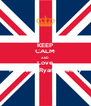 KEEP CALM AND Love Michelle Ryan donnely - Personalised Poster A4 size