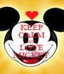 KEEP CALM AND LOVE MICKEY - Personalised Poster A4 size