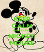 KEEP CALM AND LOVE MICKEY MOUSE - Personalised Poster A4 size