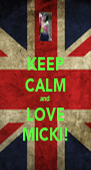 KEEP CALM and LOVE MICKI! - Personalised Poster A4 size