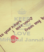 KEEP CALM AND LOVE Miftahul Jannah - Personalised Poster A4 size