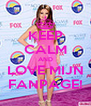 KEEP CALM AND LOVE MIJN FANPAGE! - Personalised Poster A4 size