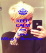 KEEP CALM AND Love Miley's New Hair  - Personalised Poster A4 size