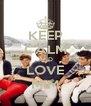 KEEP CALM AND LOVE MIM - Personalised Poster A4 size