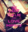 KEEP CALM AND LOVE MIMI<3 - Personalised Poster A4 size