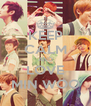 KEEP CALM AND LOVE MIN WOO - Personalised Poster A4 size