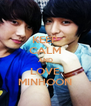 KEEP CALM AND LOVE MINHOON - Personalised Poster A4 size