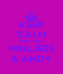 KEEP CALM AND LOVE MINI,JESS & ANDY - Personalised Poster A4 size