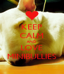 KEEP CALM AND LOVE MINIBULLIES - Personalised Poster A4 size