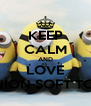 KEEP CALM AND LOVE MINION SOFT TOYS - Personalised Poster A4 size