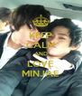 KEEP CALM AND LOVE MINJAE - Personalised Poster A4 size