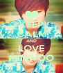 KEEP CALM AND LOVE MINWOO - Personalised Poster A4 size