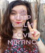 KEEP CALM AND LOVE MIRTINO - Personalised Poster A4 size