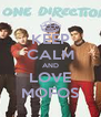 KEEP CALM AND LOVE MOFOS - Personalised Poster A4 size