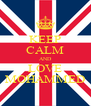 KEEP CALM AND LOVE MOHAMMED - Personalised Poster A4 size