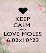 KEEP CALM  AND LOVE MOLES 6.02x10^23 - Personalised Poster A4 size