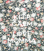 KEEP CALM AND LOVE MOMMA - Personalised Poster A4 size