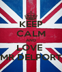 KEEP CALM AND LOVE  MR DELPORT - Personalised Poster A4 size