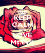 KEEP CALM AND LOVE Ms.Evil. - Personalised Poster A4 size