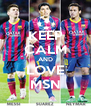 KEEP CALM AND LOVE MSN - Personalised Poster A4 size