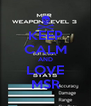 KEEP CALM AND LOVE MSR - Personalised Poster A4 size