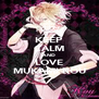 KEEP CALM AND LOVE MUKAMI KOU - Personalised Poster A4 size