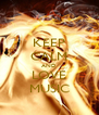 KEEP CALM AND LOVE MUSIC - Personalised Poster A4 size